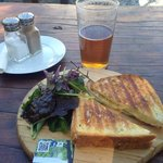 Ham off-bone Toasted Sandwich and hand-pulled ale