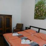 Huge bedroom with nice linens