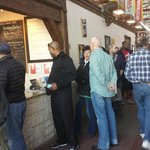 A short line at Pecan Lodge