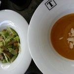 Casear salad and Thai pumpkin soup