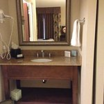 Sink by bathroom