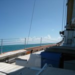 At sail on America