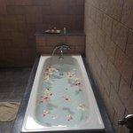 Rose petal bath ran for my 40th