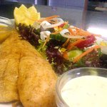FRESH LINE FISH WITH SALAD