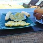 Piatto di frutta per breakfast