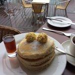 Pancakes at breakfast
