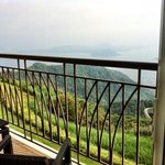 morning view of taal volcano from the room