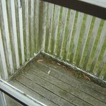 Deck for fire exit at back door in Lodge
