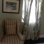 chair and decor