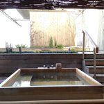 Japanese room with open air onsen