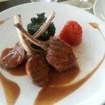 Fürstliches Essen mit Stil