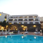 Main pool area in the evening