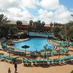 Vu des deux piscines
