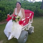 Wedding Chariot loaned from Captain Sam..
