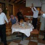 Julie's birthday suprise in Toscana restaurant