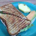 Made to order panini from little store off lobby