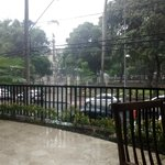 Área externa do restaurante. Vista para a praça do Campo Grande