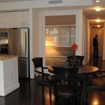 Clean designer look in the 2-bedroom suite