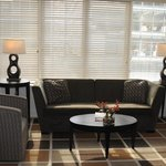 Living room area in the 2-bedroom suite