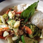 Special of the day Salmon with Vegetable Curry