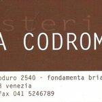 Osteria Codroma, Venise.
