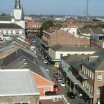 View from the top of the hotel looking down Chartres St