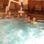 Huge hot tub - perfect way to relax after a day of standing in lines at Disneyland.