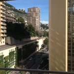 Side view from room 828, not noisy and a great vantage point during F1 races!