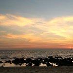 low tide at dusk