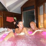 In our jacuzzi