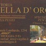 Trattoria Stella d'Oro, Chioggia, Italie.