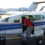 Small plane to hotel