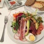 Navarro salad. Delicious and substantial.