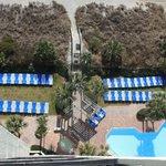 view of grounds & pool below (clean pool!)