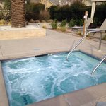Relaxing hot tub.  Wonderful after a day of wine tasting.