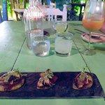 Pulpo (Octopus) on Pear and Membrillo (Quince Preserve)