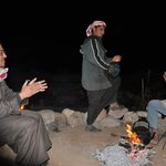 Singing Bedouin songs with from left to right: Ramadan, Mustafa and Ishmail
