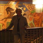 mural das escadas do segundo lobby