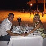 cena romantica en la playa!