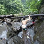 Heavy climb and return - 7 river crossings!
