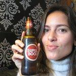 Na recepção com a Super bock, cerveja que gostei muito.