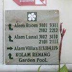 signs around resort
