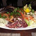 Assorted dish of selfish, squid, octopus, prawns, etc..