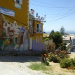 Some of the street art in Valparaiso