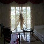 curtain detail done by maid
