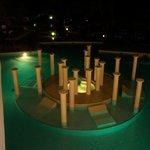 pool shot at night