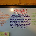 """""""Special"""" board outside door to Red Iguana 2.  Black Cod dish was incredible"""
