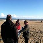 Eddie expaining WW 2 History on Normandy Beach