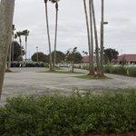 Utsikt mot hotellet från golfklubben