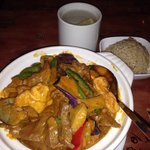 Beef curry w/rice